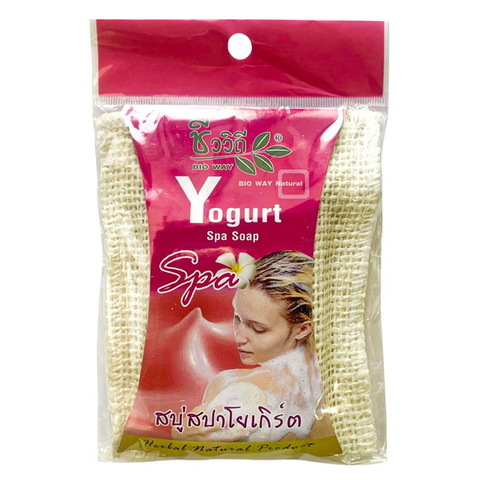 Спа-мыло в мочалке с Йогуртом BIO WAY 75 гр. Yogurt With Spa Herb Soapс