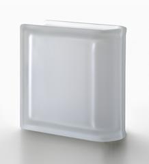 Торцевой стеклоблок матовый бесцветный гладкий Vetroarredo Neutro TER Lineare T SAT 19x19x8