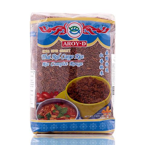 Тайский красный рис Aroy-D, 1 кг