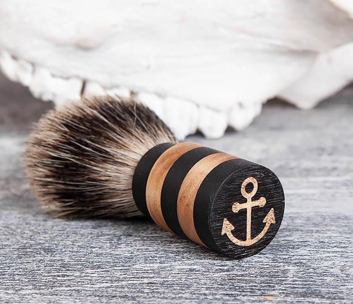 RAZ381 Помазок из барсучего волоса с деревянной рукояткой фото 04