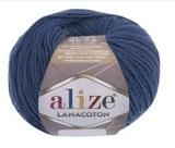 Пряжа Alize Lanacoton 279 темный джинс
