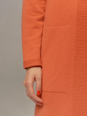Женское платье кораллового цвета из шерсти и кашемира - фото 3