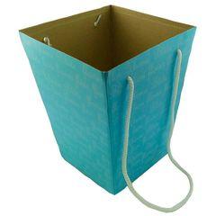 Коробка для цветов Голубая 12,5*18*22,5 см / 1 шт. /