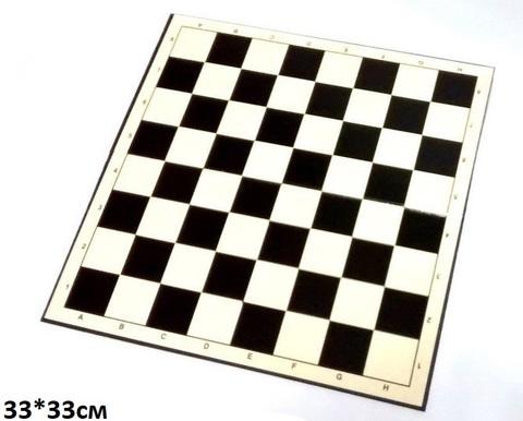 Доска для шахмат и нард 33см х 33см /картон/ (Зади