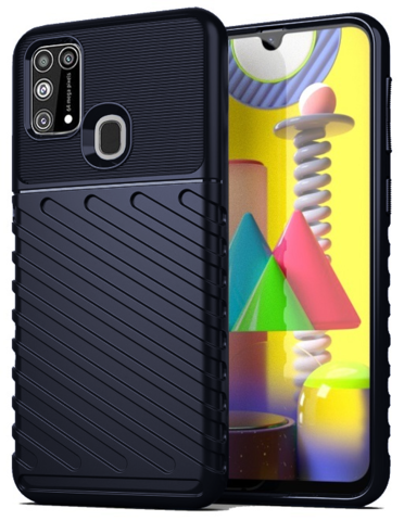 Чехол Carbon для Samsung Galaxy M31 серия Оникс | синий