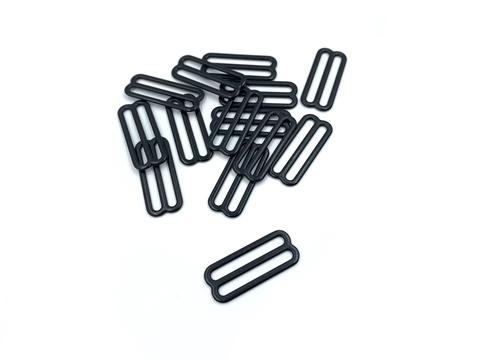 Регулятор для бретели черный 25 мм