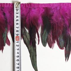 Купить оптом перья Петуха на ленте в интернет-магазине Fuchsia ярко-розовые