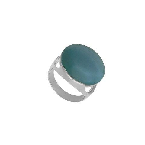 Кольцо pearl green agate 17.2 K1977.17/17.2 G/S