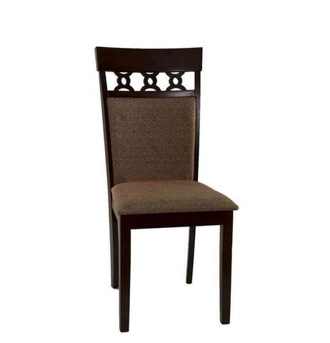 Стул 8187 Cappuccino деревянный с мягким сиденьем МиК темный орех