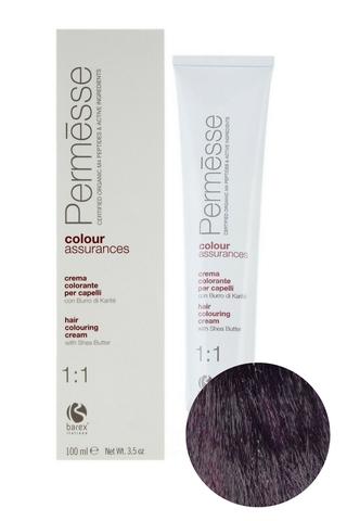 Крем-краска для волос 4.70 Каштан фиолетовый интенсивный Permesse, Barex