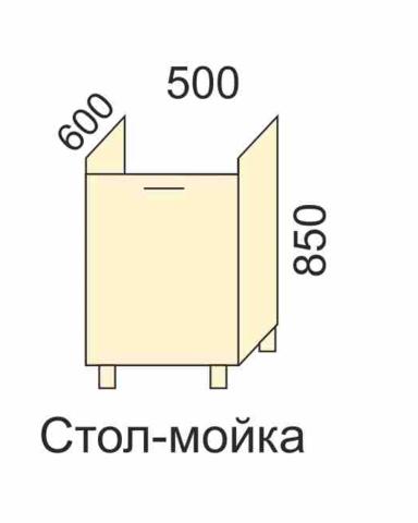 СОФЬЯ, СВЕТЛАНА, ПРЕМЬЕР, ПОЛИНАСтол-мойка 500