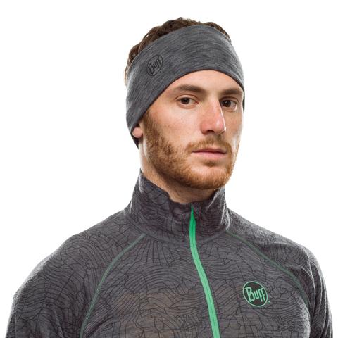 Шерстяная повязка на голову Buff Headband Midweight Wool Graphite Multi Stripes фото 2