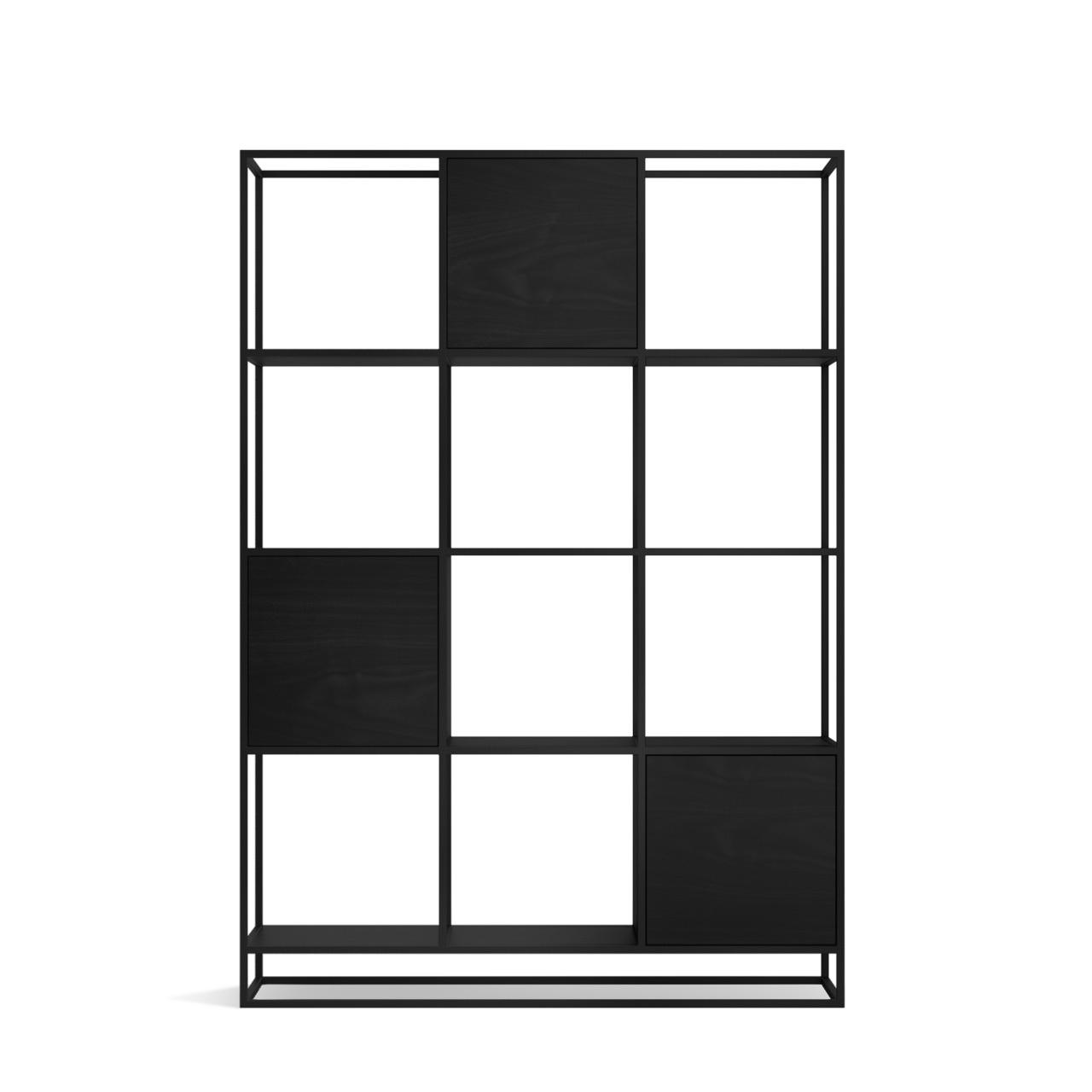 Стеллаж Kvadra 3 black - вид 4