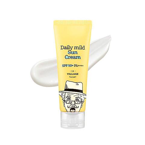 VILLAGE 11 FACTORY Daily mild Sun Cream SPF 50+ PA++++