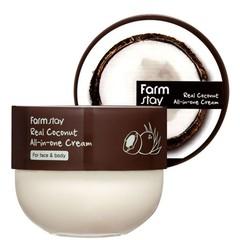 Универсальный питательный крем для лица и тела с кокосом FarmStay Real Coconut All-In-One Cream
