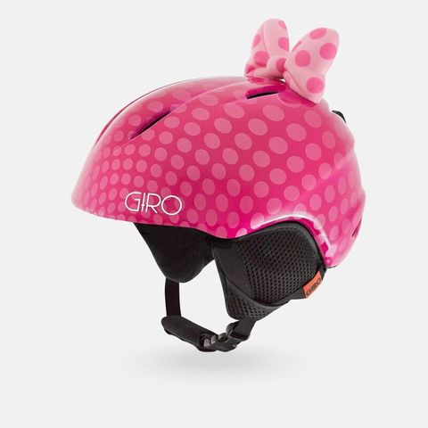 Шлем детский GIRO LAUNCH Pink Bow Polka Dots