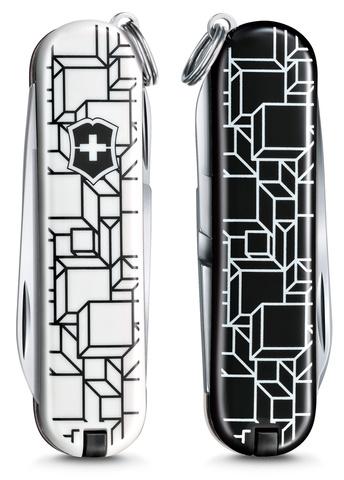 Нож-брелок Victorinox Classic LE 2021, 58 мм, 7 функций, Cubic Illusion