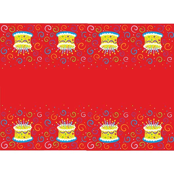 Скатерть полиэтиленовая Торт яркий 140см X 180см