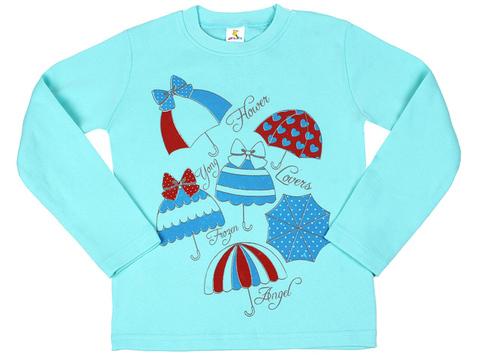 933-2 толстовка детская, голубая