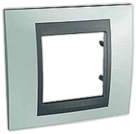 Рамка на 1 пост. Цвет Флюорит-графит. Schneider electric Unica Top. MGU66.002.294