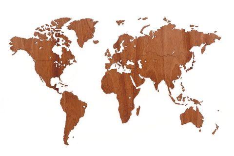 Карта мира Wall Decoration Exclusive 130х78 cm (Африканское Сапеле)