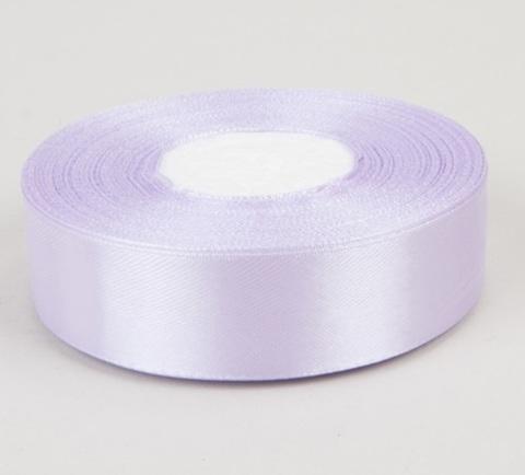 Лента атласная (размер 25 мм х 30 м) Цвет: светло-сиреневая