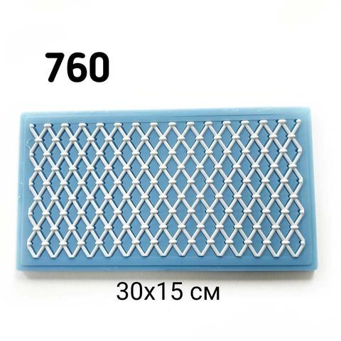 0760 Молд силиконовый. Решетка Ромбы
