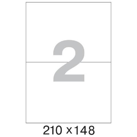 Этикетки самоклеящиеся Office Label эконом 210x148 мм белые (2 штуки на листе А4, 100 листов в упаковке)