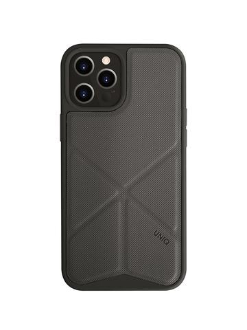 Чехол Uniq Transforma для iPhone 12 Pro Max | с раскладной магнитной подставкой серый