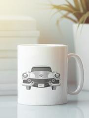Кружка с рисунком Кадиллак (Cadillac) белая 009