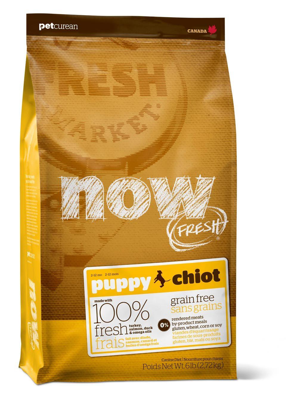 Сухой корм Беззерновой корм для щенков с индейкой, NOW FRESH, уткой и овощами 2700_8.jpg