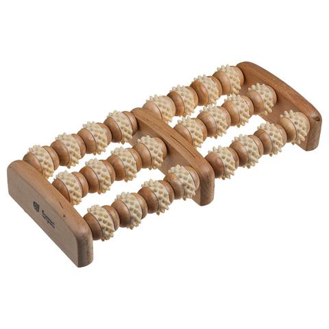 Массажёр деревянный для ног, роликовый