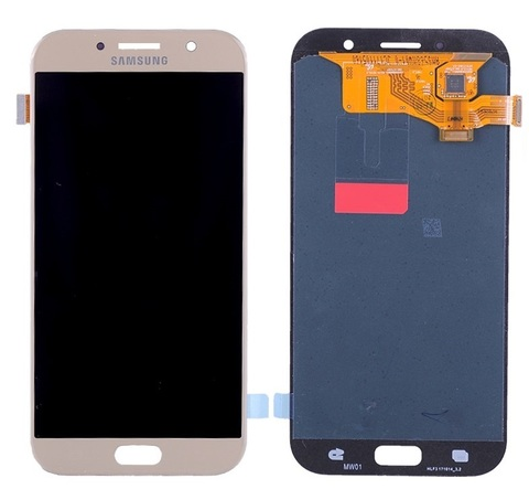 LCD SAMSUNG A7 2017 A720F + Touch Pink OLED MOQ:5