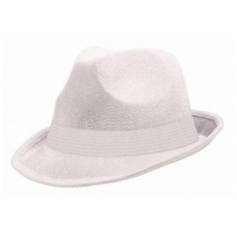 Шляпа-федора велюр белая/A