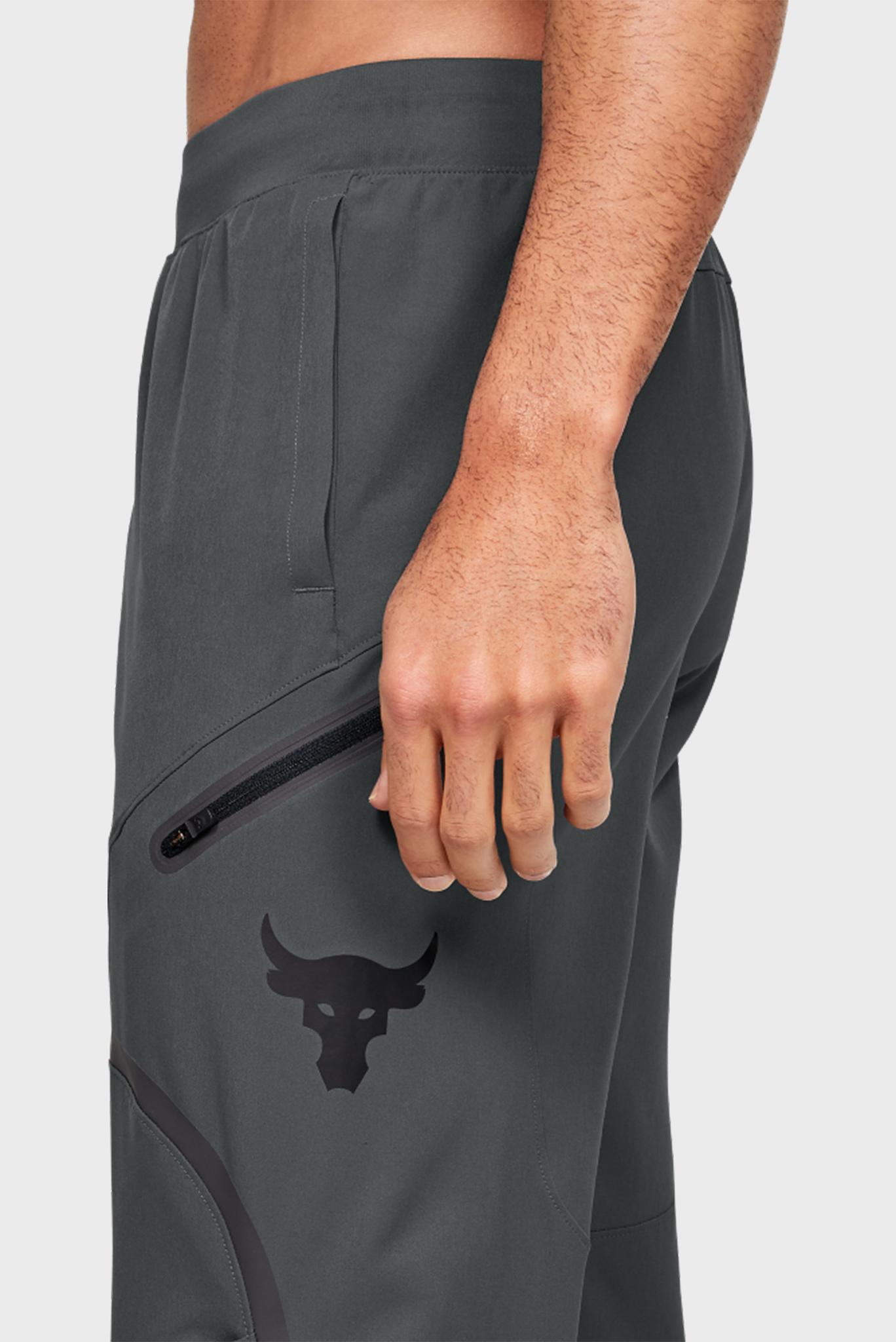 Мужские серые спортивные брюки Project Rock Flex Woven Pant Under Armour