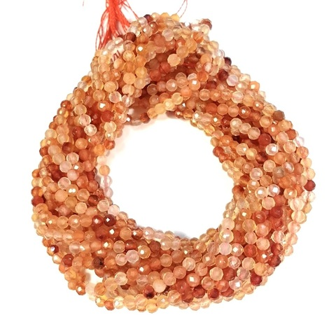 Бусины сердолик A граненый 3 мм цена за 70 бусин (~19 см)