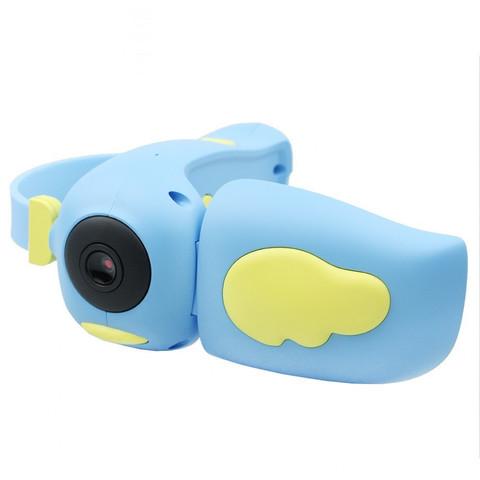 Детская цифровая фото-видеокамера фотоаппарат Kids Camera, голубая