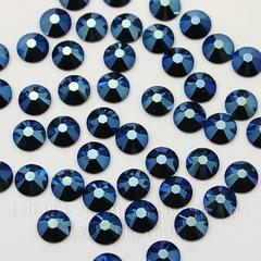 2058 Стразы Сваровски горячей фиксации Crystal Metallic Blue  ss12 (3-3,2 мм), 10 штук