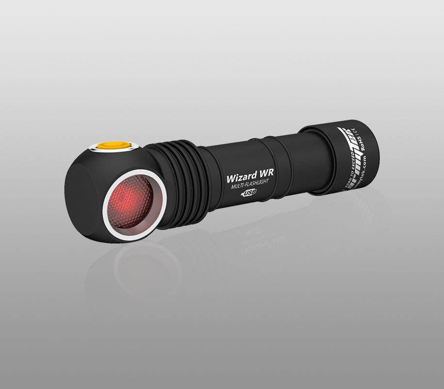 Мультифонарь Armytek Wizard WR Magnet USB (теплый-красный свет) - фото 3