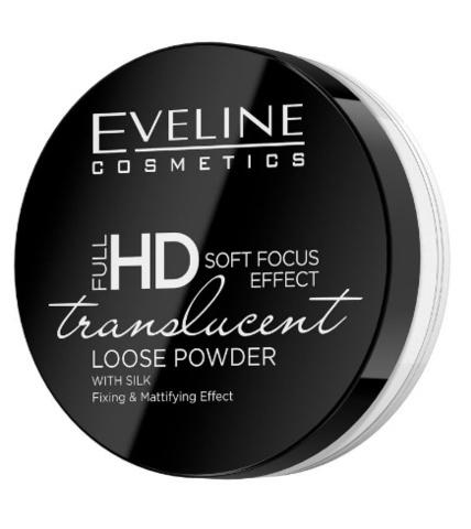 EVELINE Пудра TRANSLUCENT Транспарентная фиксирующая серии FULL HD LOOSE POWDER, 6г