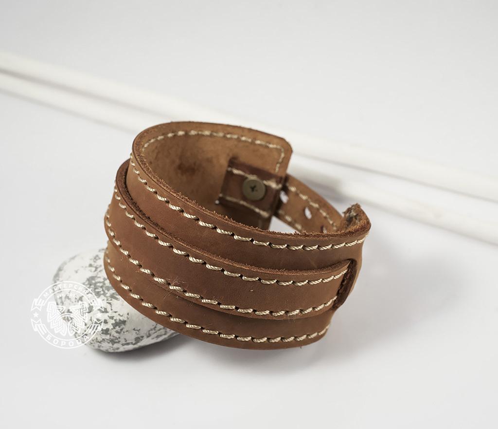 BL390-2 Браслет ручной работы из мягкой натуральной кожи. «Boroda Design» фото 06