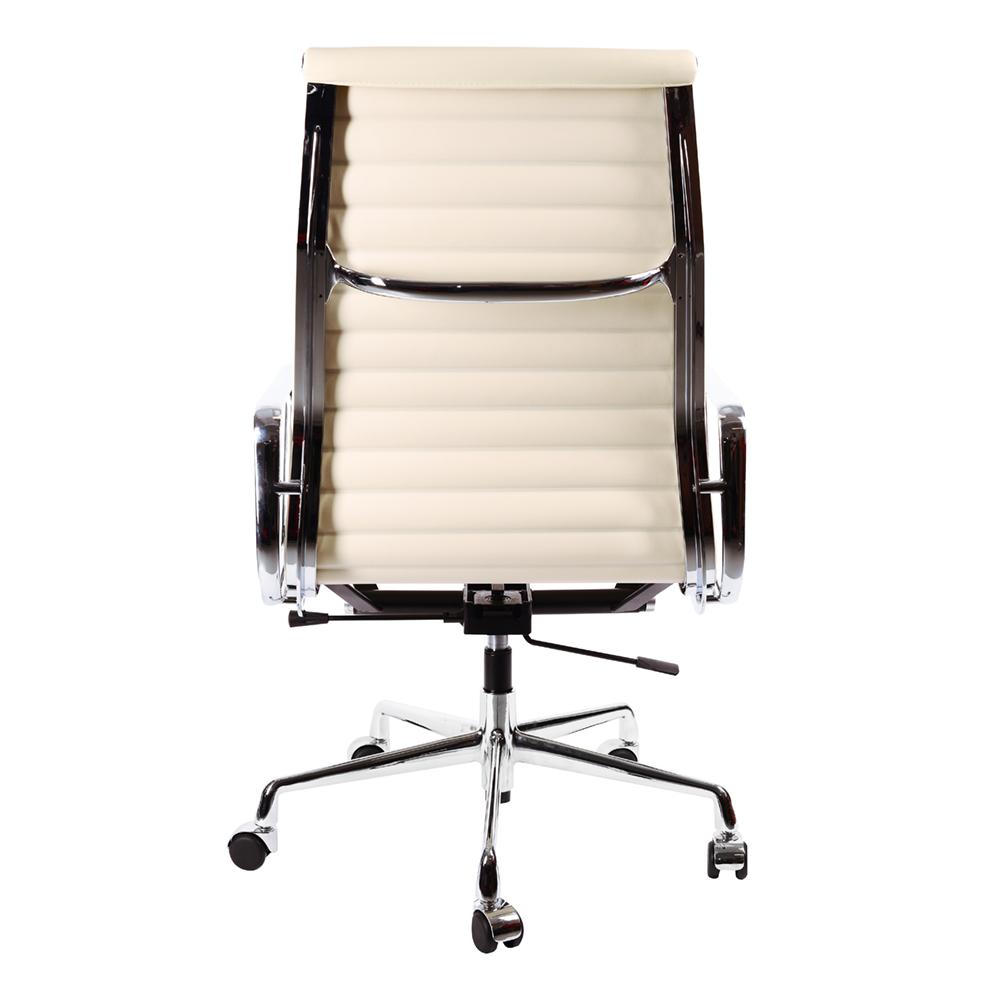 Кресло Eames Style HB Ribbed Office Chair EA 119 кремовая кожа - вид 4