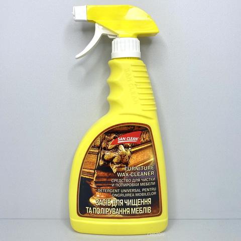 Средство для очистки и полировки мебели San Clean 500 мл, с распылителем
