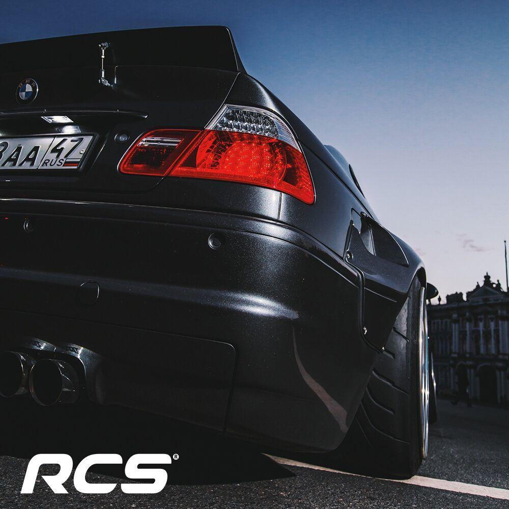 Силиконовая рамка для автомобиля RCS - чёрная