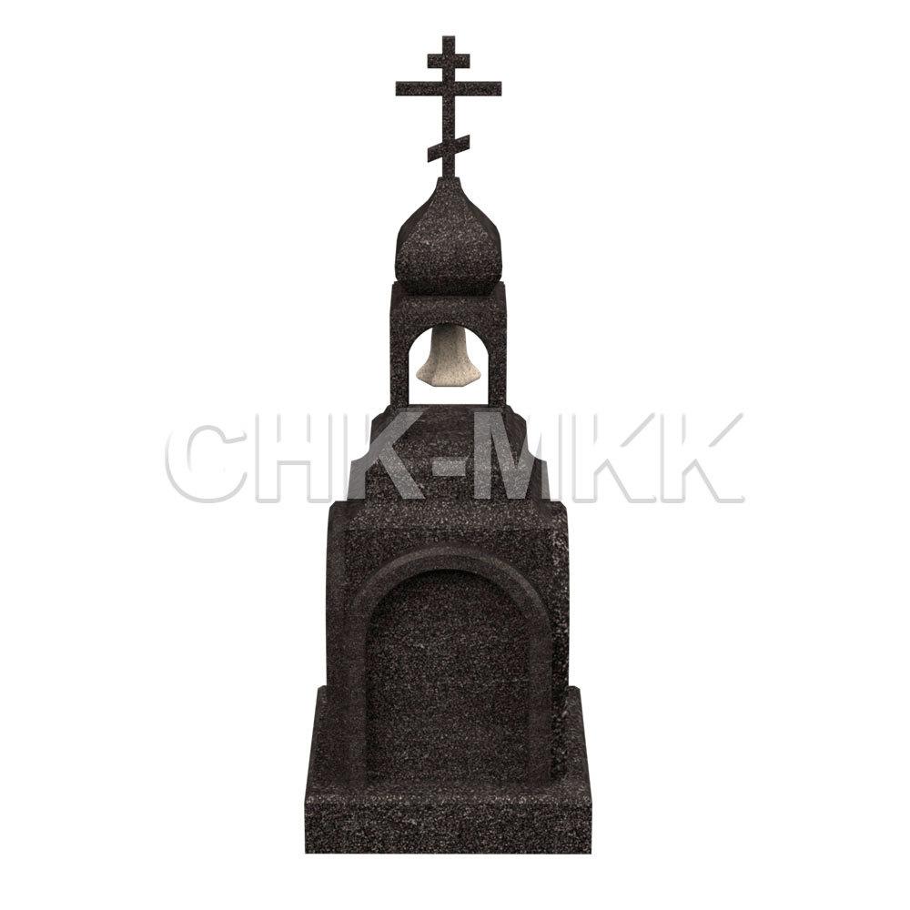 Памятник часовня Р-100 с колоколом и крестом