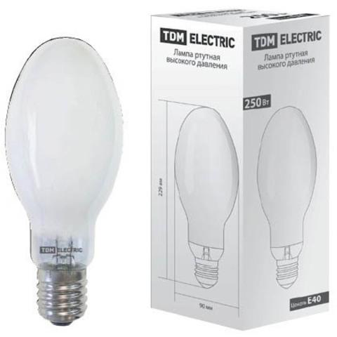 Лампа ртутная высокого давления ДРЛ 250 Вт Е40 TDM