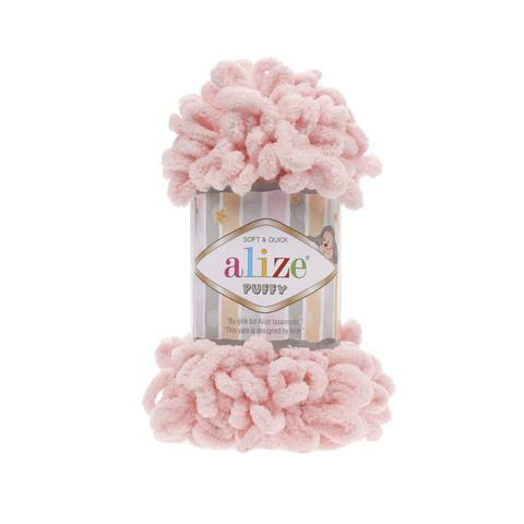 Купить Пряжа Alize Puffy Код цвета 340 Персиковый | Интернет-магазин пряжи «Пряха»