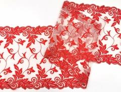 Вышивка на сетке, 23 см, красная (алая),  (Арт: VS-1019), м