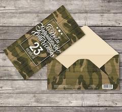 Конверт для денег «23 Февраля» Котофлот, 16,5 × 8 см