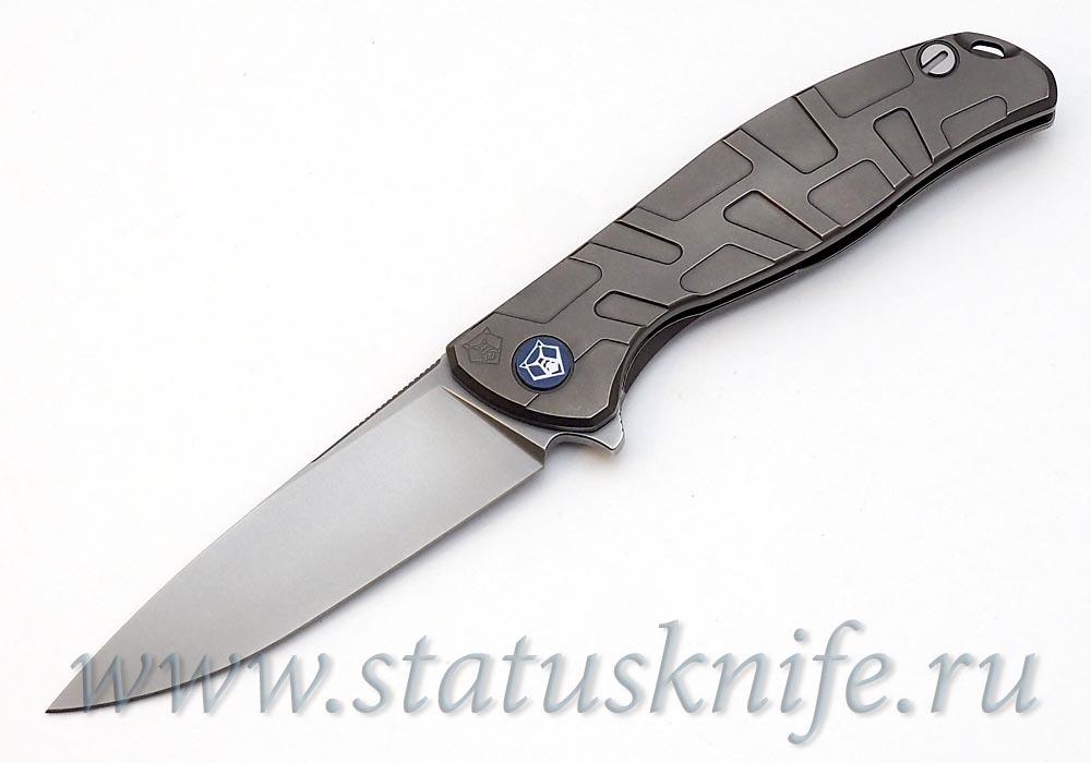 Нож Широгоров Flipper 95 S30V FS Т узор  подшипники - фотография